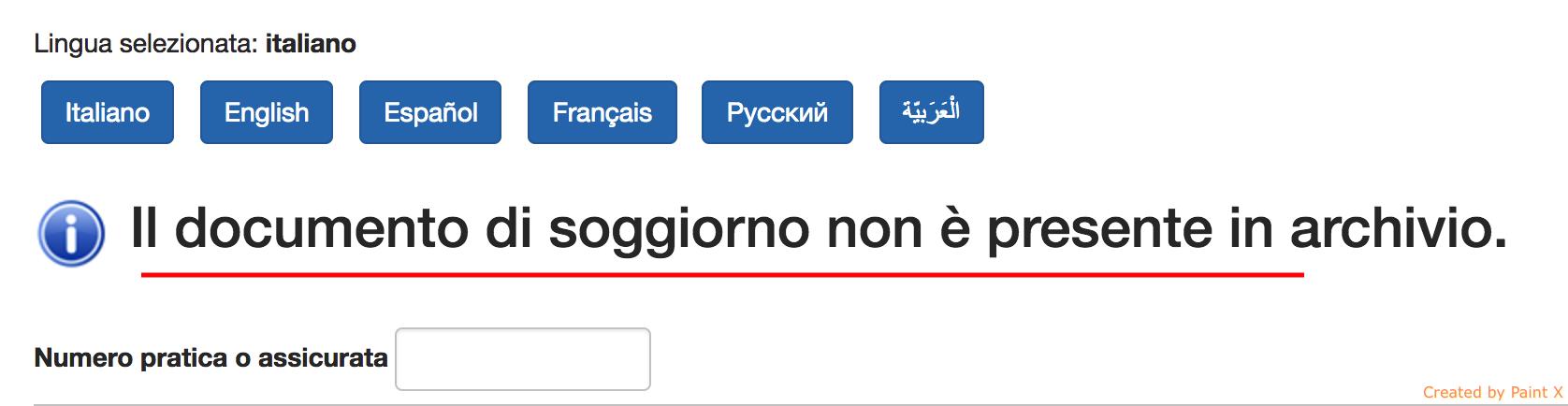 Il Documento Di Soggiorno Non È Presente In Archivio 2017 ...